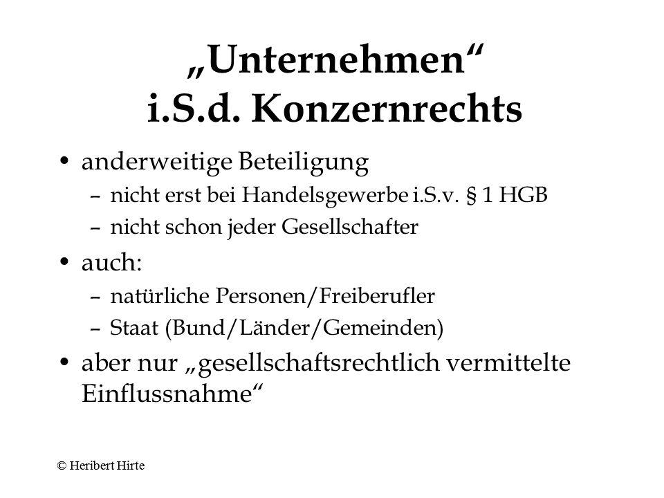 """""""Unternehmen i.S.d. Konzernrechts"""