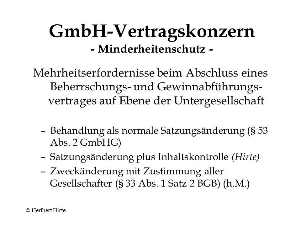 GmbH-Vertragskonzern - Minderheitenschutz -