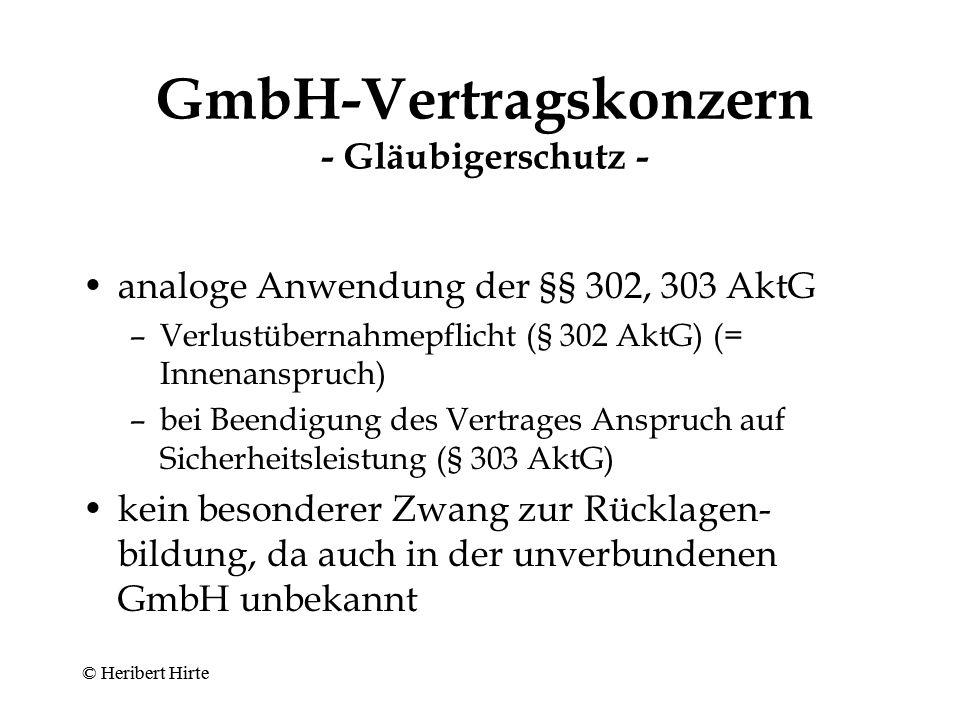 GmbH-Vertragskonzern - Gläubigerschutz -