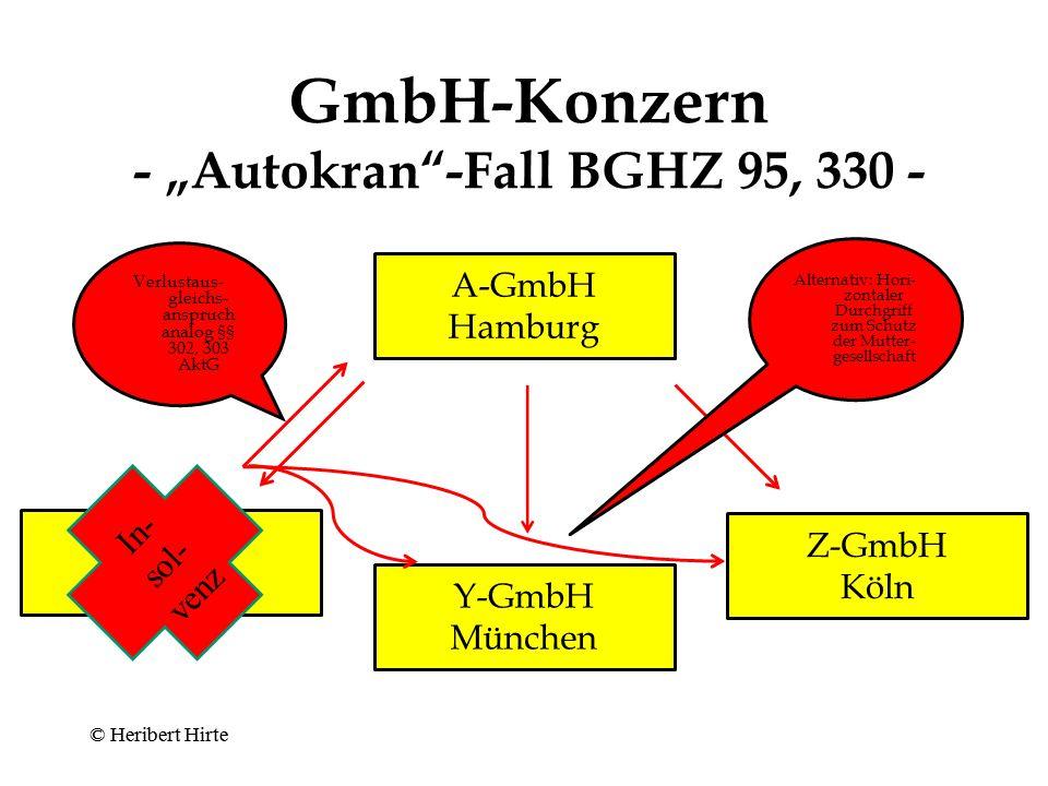 "GmbH-Konzern - ""Autokran -Fall BGHZ 95, 330 -"