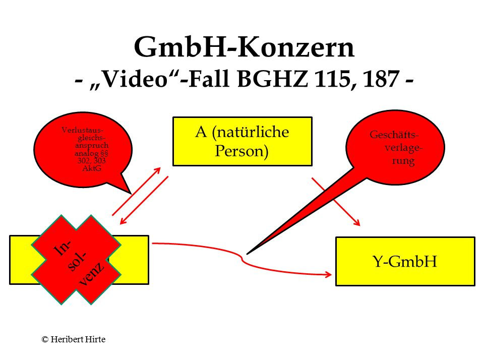 "GmbH-Konzern - ""Video -Fall BGHZ 115, 187 -"