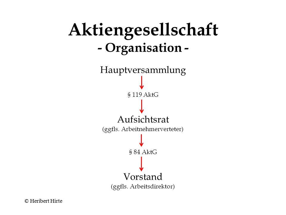 Aktiengesellschaft - Organisation -