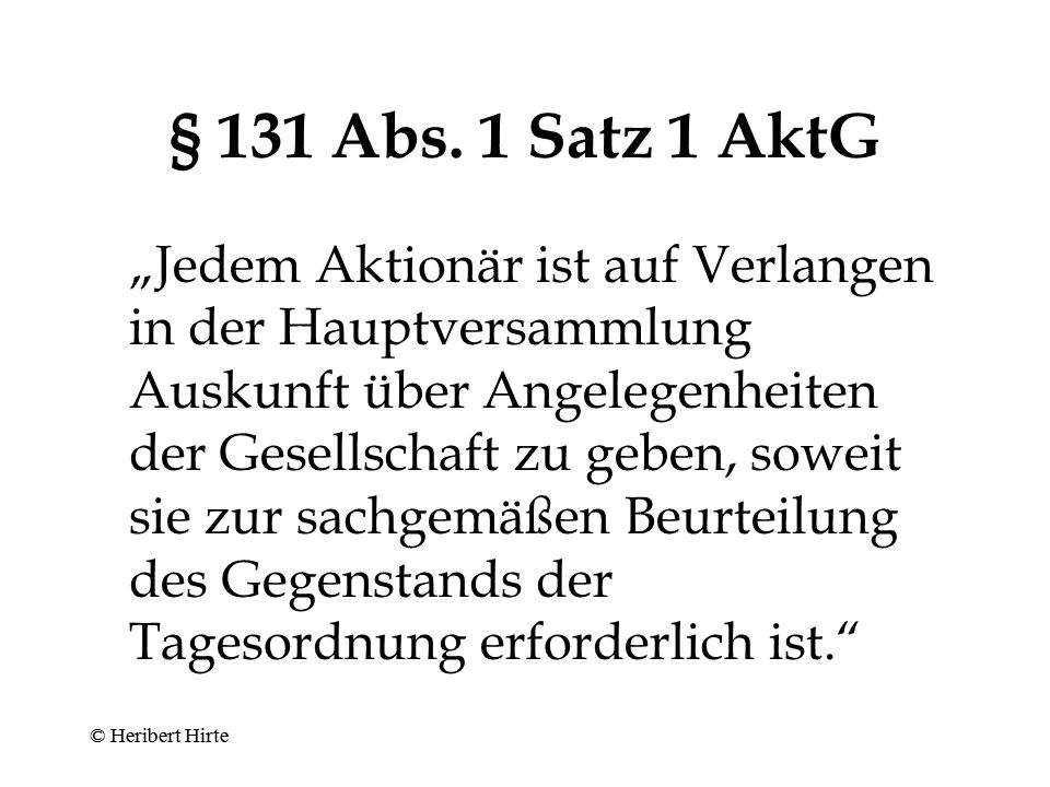 § 131 Abs. 1 Satz 1 AktG