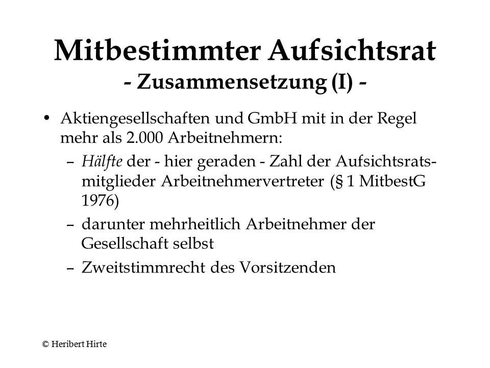 Mitbestimmter Aufsichtsrat - Zusammensetzung (I) -