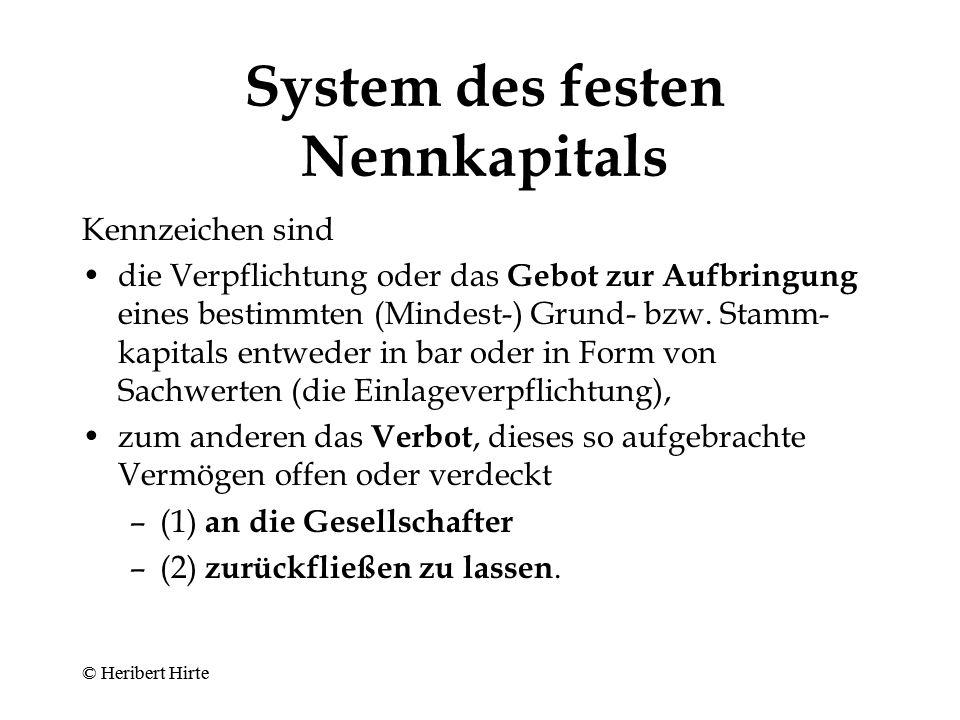 System des festen Nennkapitals