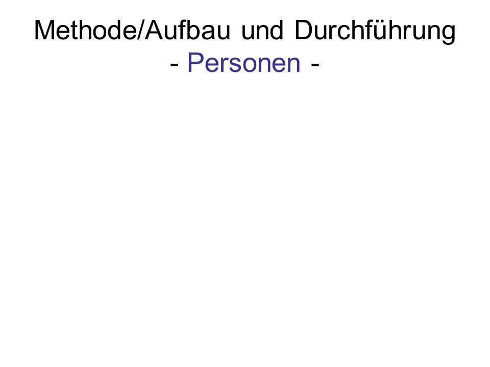 Methode/Aufbau und Durchführung - Personen -
