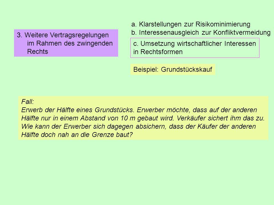 a. Klarstellungen zur Risikominimierung