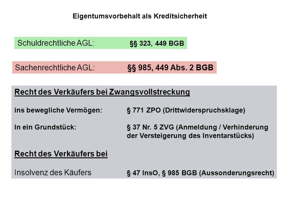 Schuldrechtliche AGL: §§ 323, 449 BGB