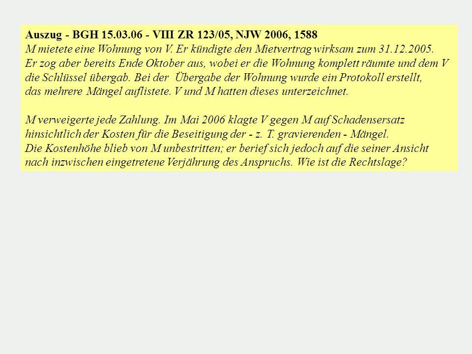 Auszug - BGH 15.03.06 - VIII ZR 123/05, NJW 2006, 1588