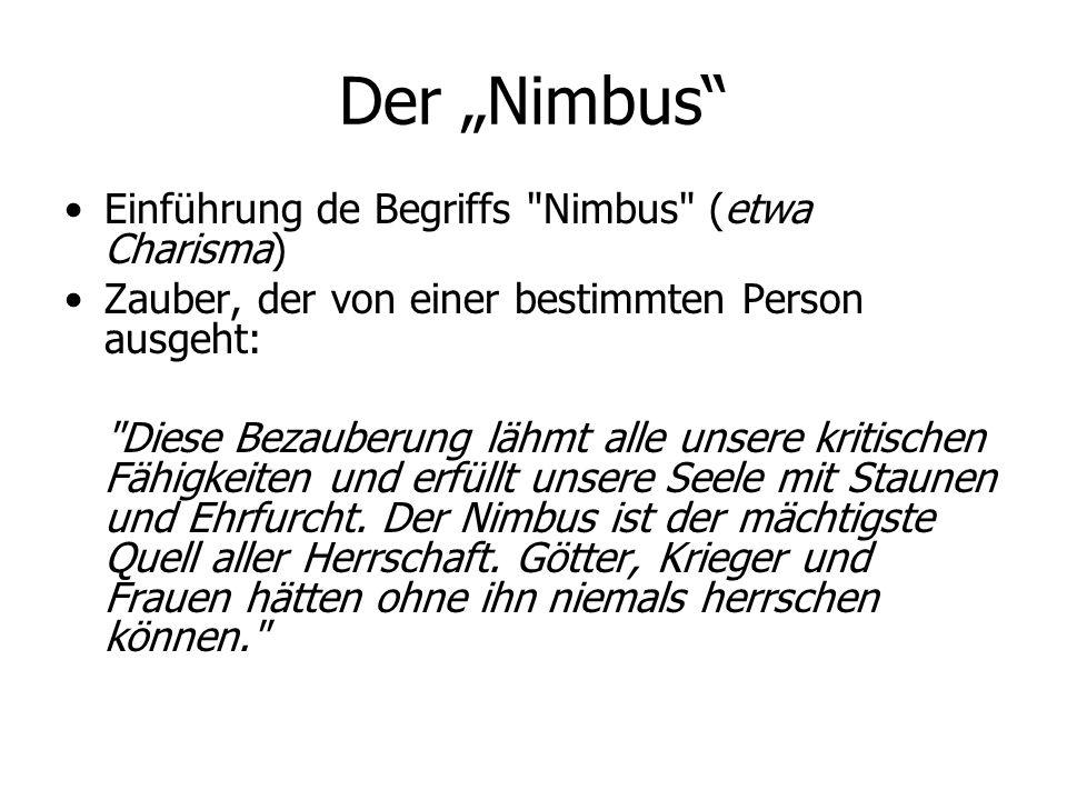 """Der """"Nimbus Einführung de Begriffs Nimbus (etwa Charisma)"""