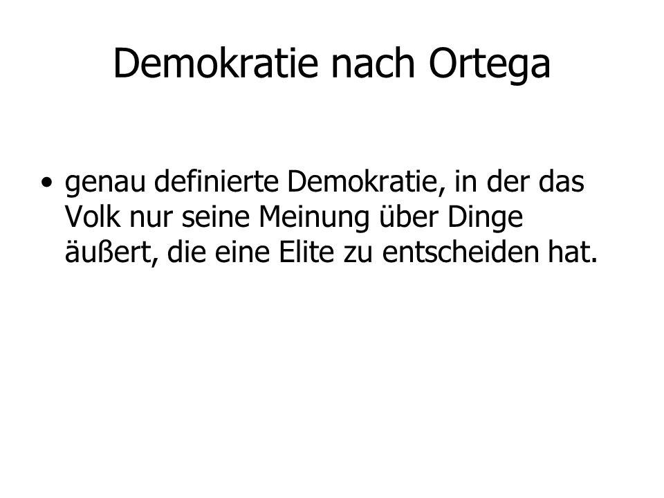 Demokratie nach Ortega