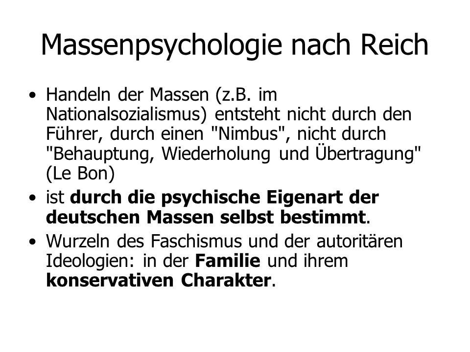Massenpsychologie nach Reich