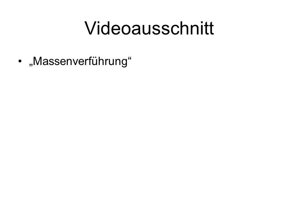 """Videoausschnitt """"Massenverführung"""