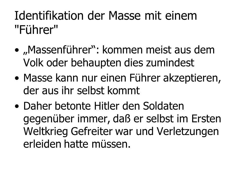 Identifikation der Masse mit einem Führer
