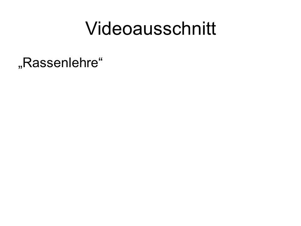 """Videoausschnitt """"Rassenlehre"""