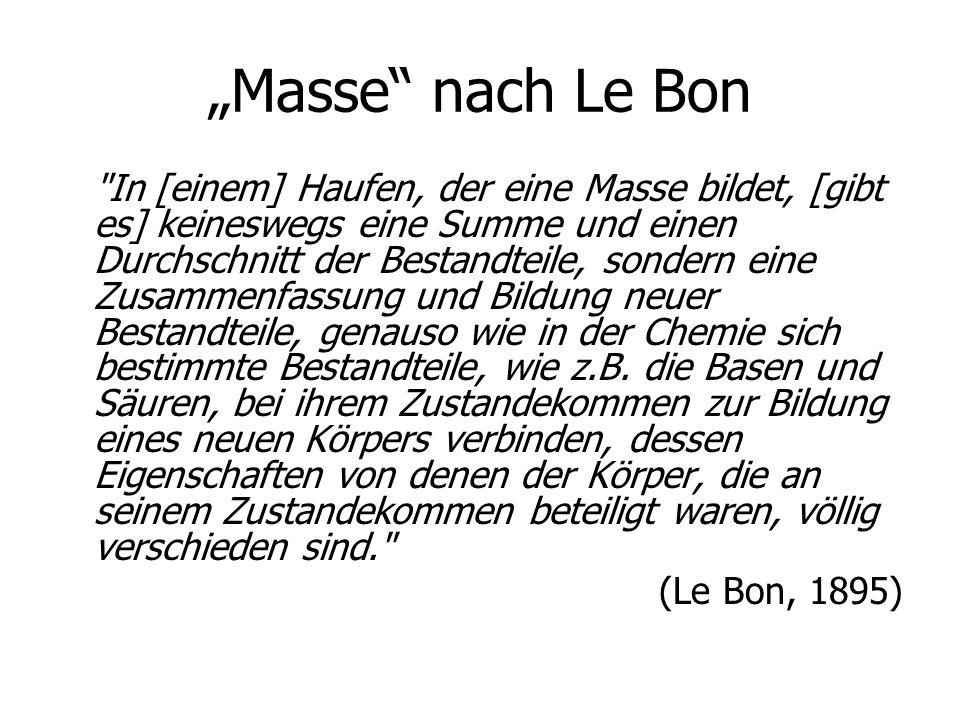 """""""Masse nach Le Bon"""