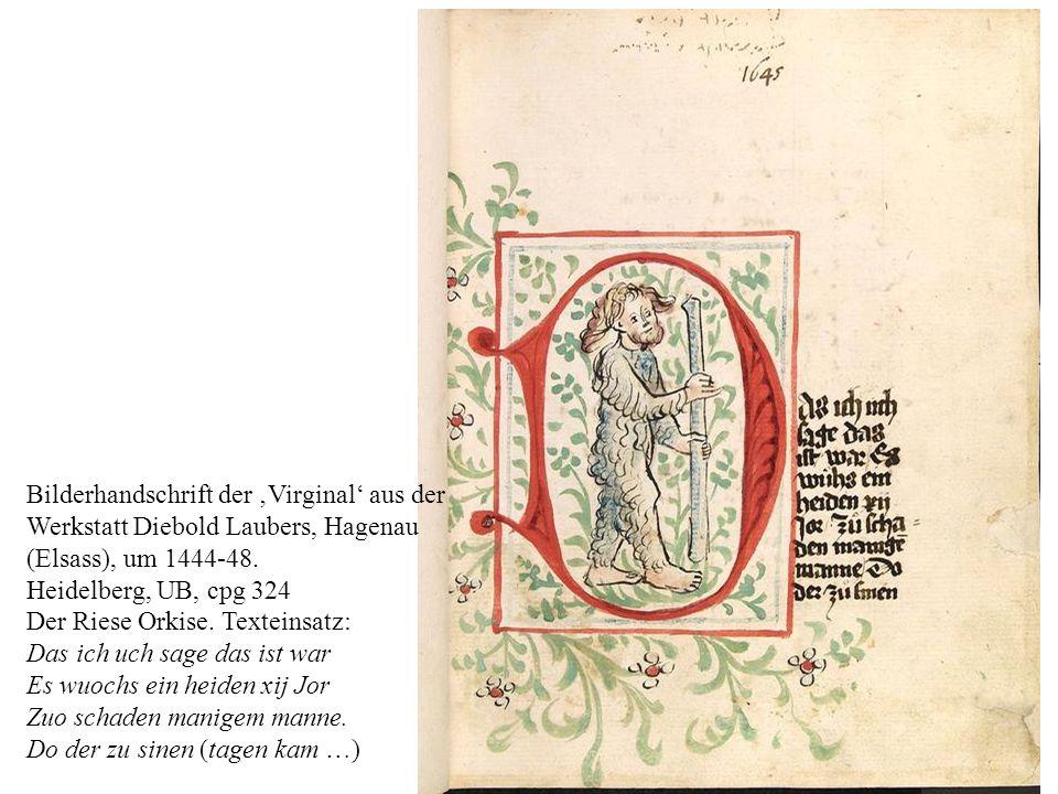 Bilderhandschrift der 'Virginal' aus der