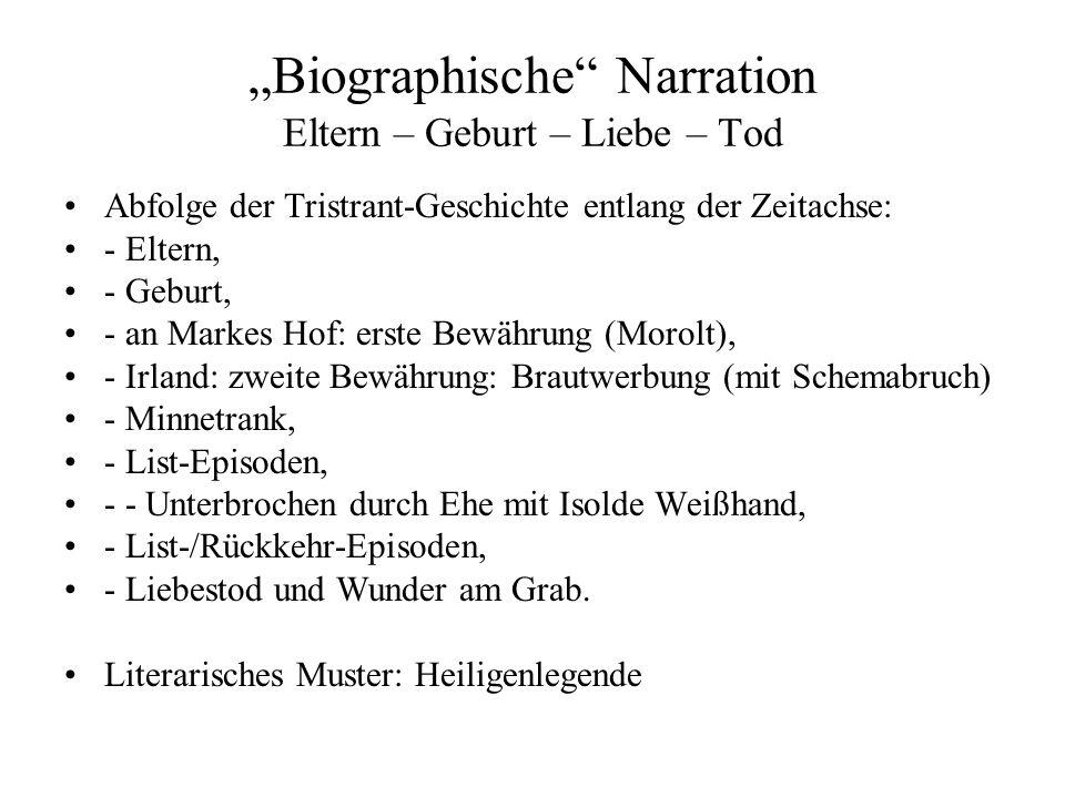 """""""Biographische Narration Eltern – Geburt – Liebe – Tod"""