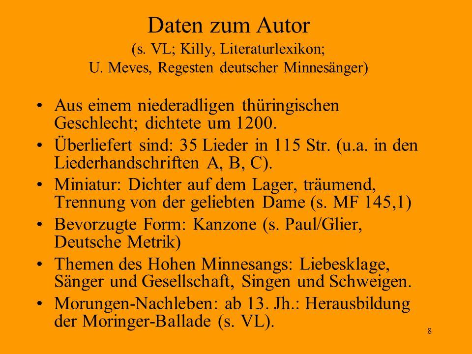 Daten zum Autor (s. VL; Killy, Literaturlexikon; U