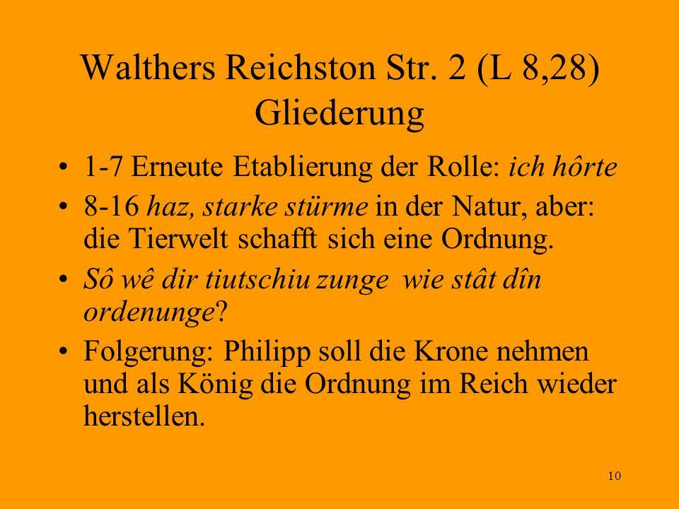 Walthers Reichston Str. 2 (L 8,28) Gliederung