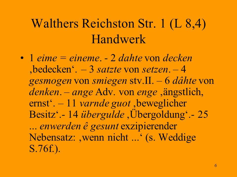 Walthers Reichston Str. 1 (L 8,4) Handwerk