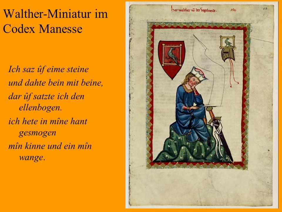 Walther-Miniatur im Codex Manesse