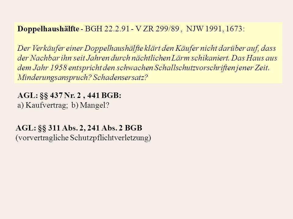 Doppelhaushälfte - BGH 22.2.91 - V ZR 299/89 , NJW 1991, 1673:
