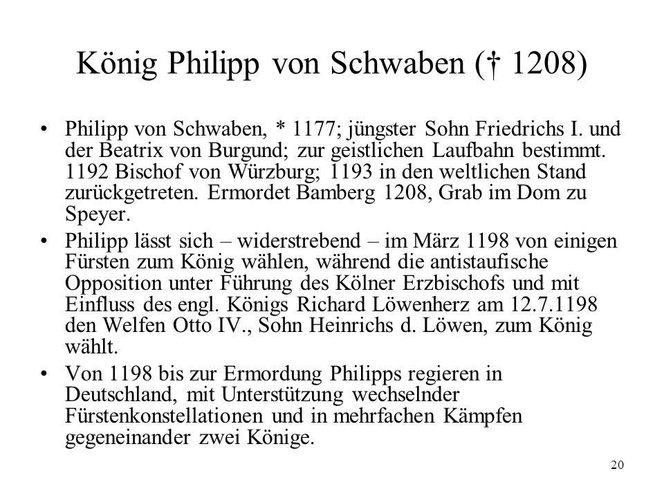 König Philipp von Schwaben († 1208)