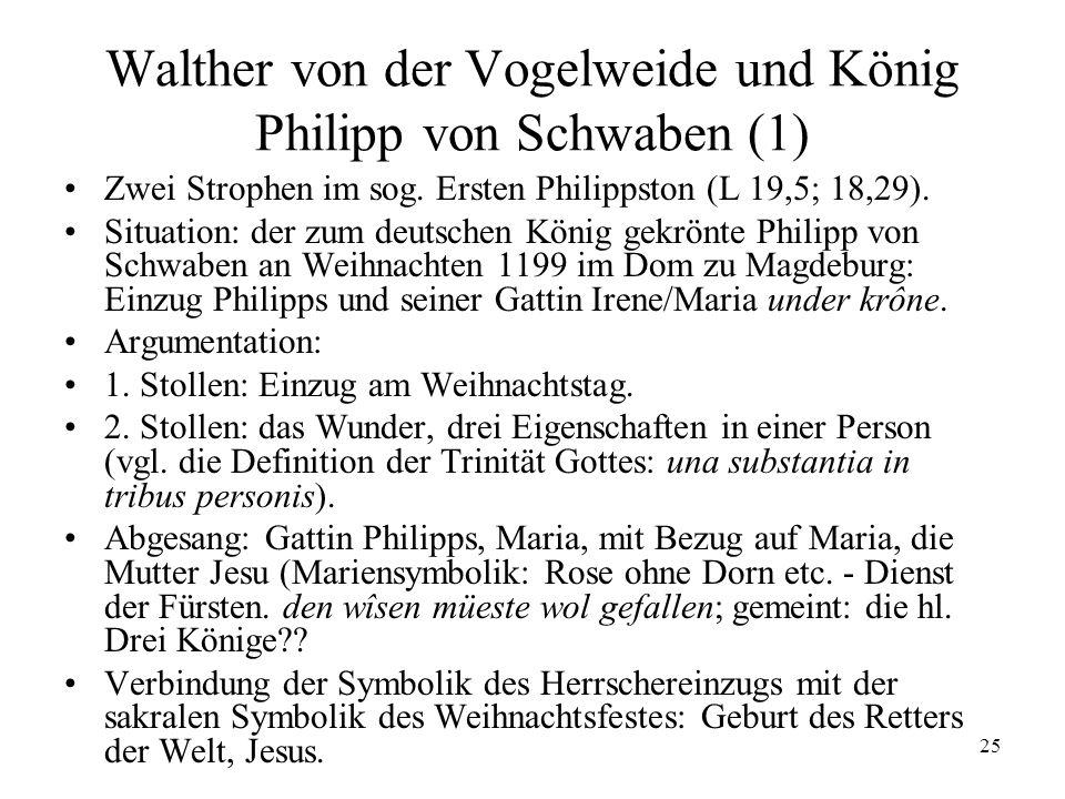 Walther von der Vogelweide und König Philipp von Schwaben (1)