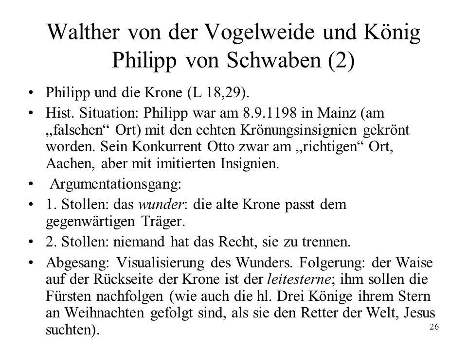 Walther von der Vogelweide und König Philipp von Schwaben (2)