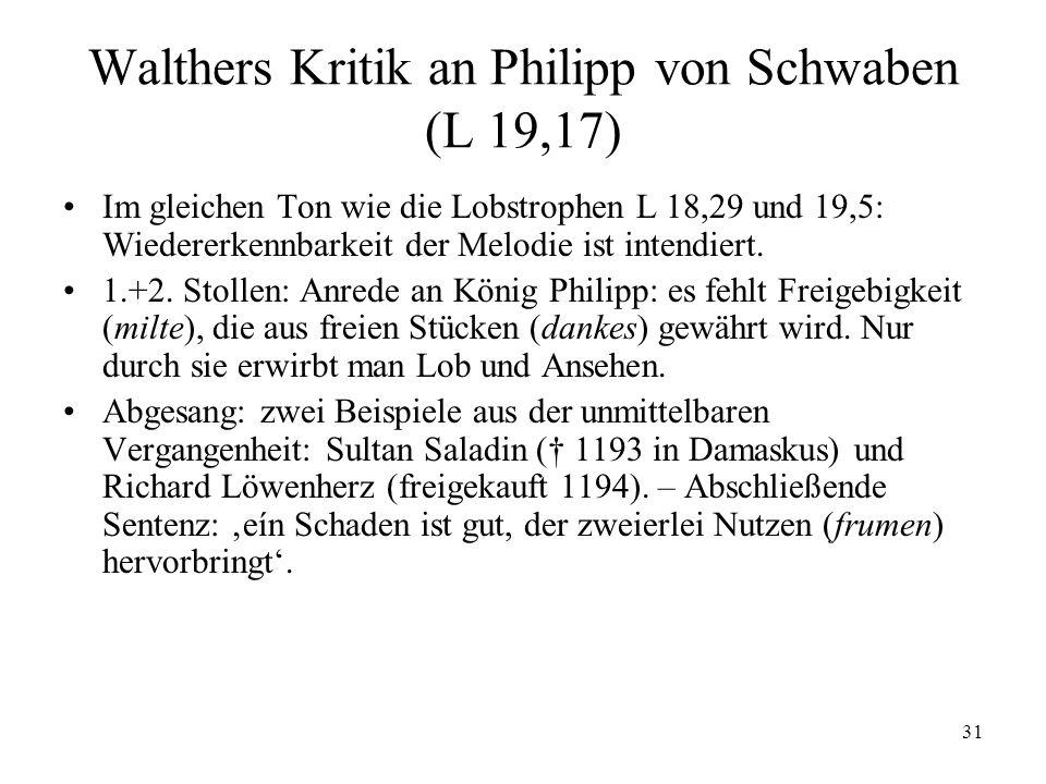 Walthers Kritik an Philipp von Schwaben (L 19,17)