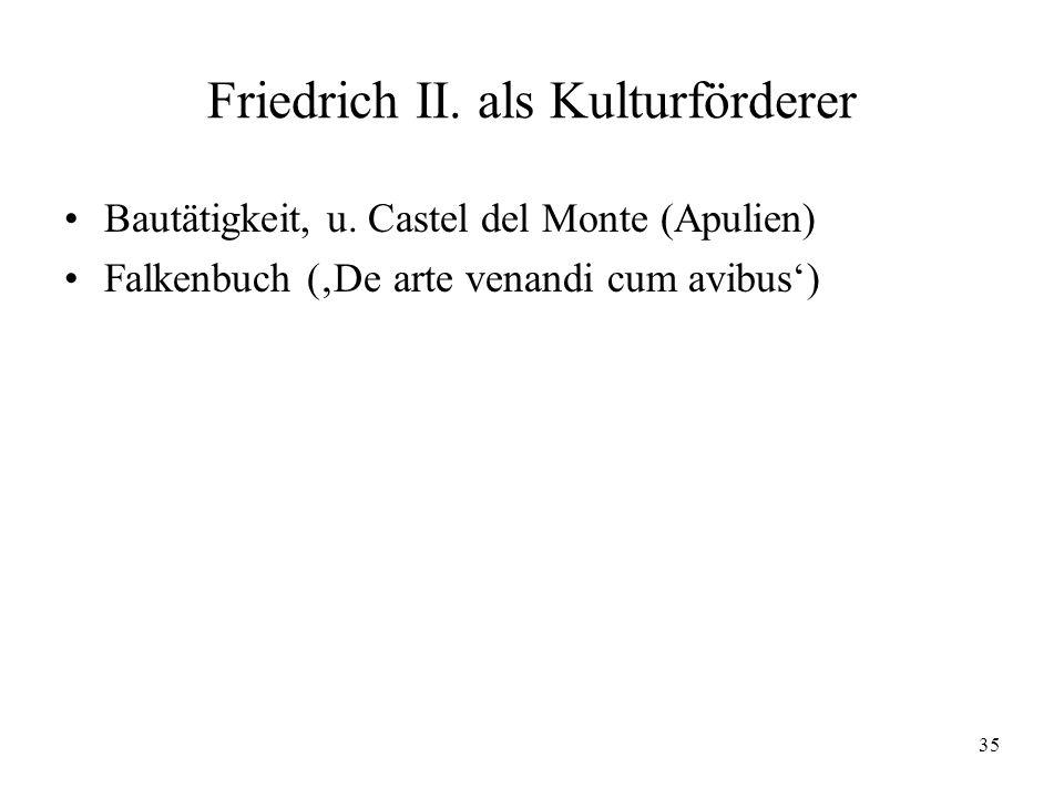 Friedrich II. als Kulturförderer