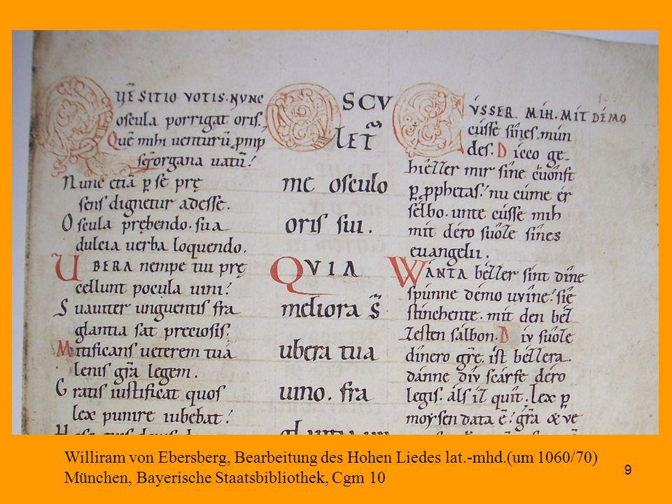 Williram von Ebersberg, Bearbeitung des Hohen Liedes lat. -mhd