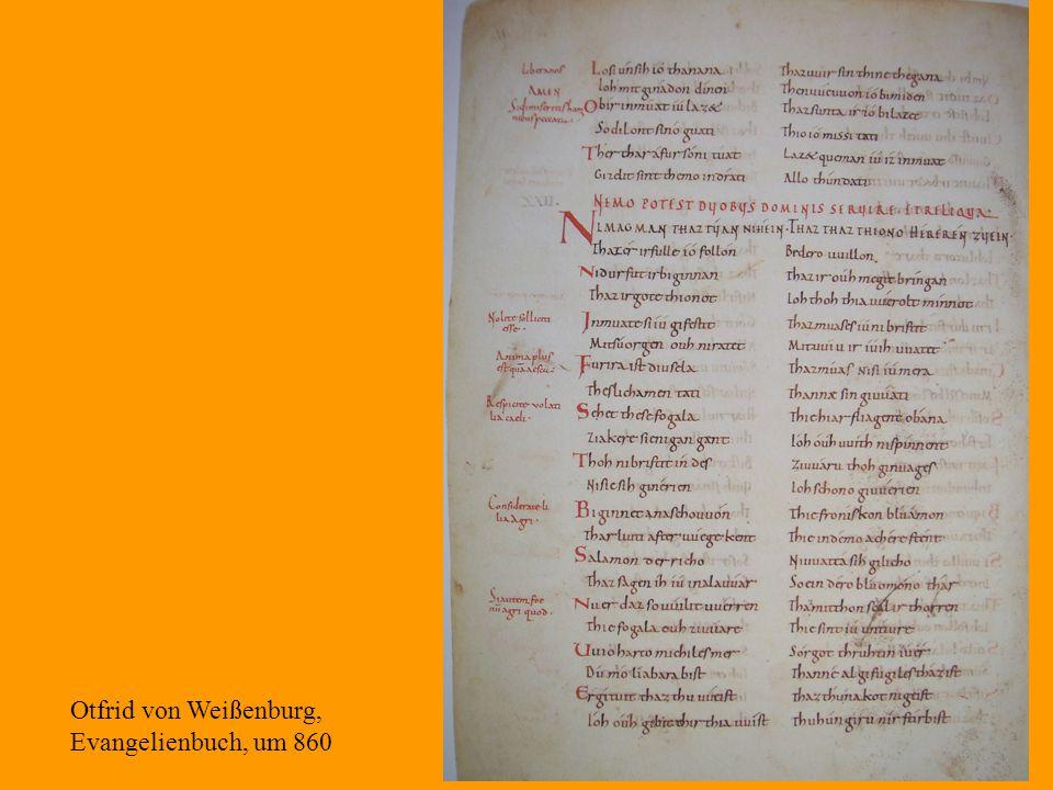 Otfrid von Weißenburg, Evangelienbuch, um 860