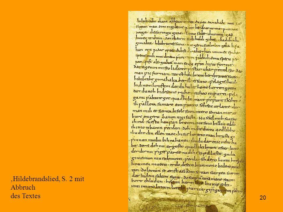 'Hildebrandslied, S. 2 mit