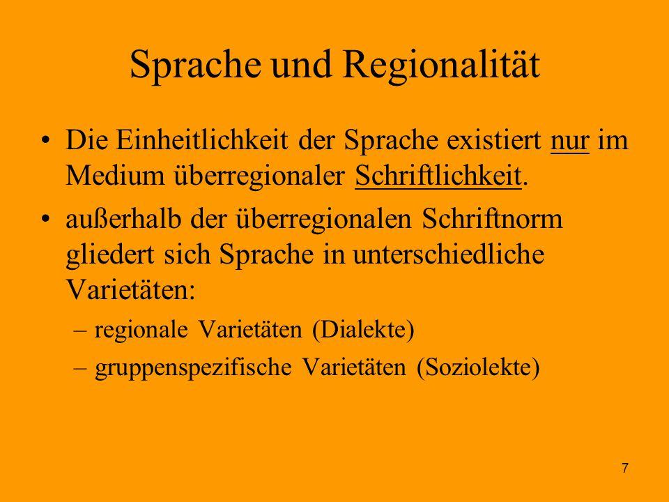 Sprache und Regionalität