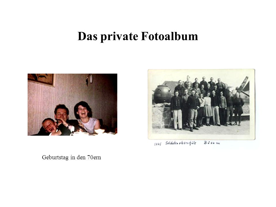 Das private Fotoalbum Geburtstag in den 70ern