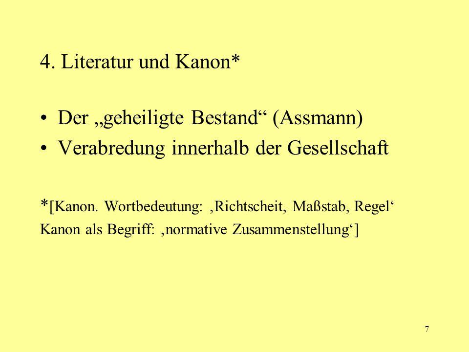 """Der """"geheiligte Bestand (Assmann)"""