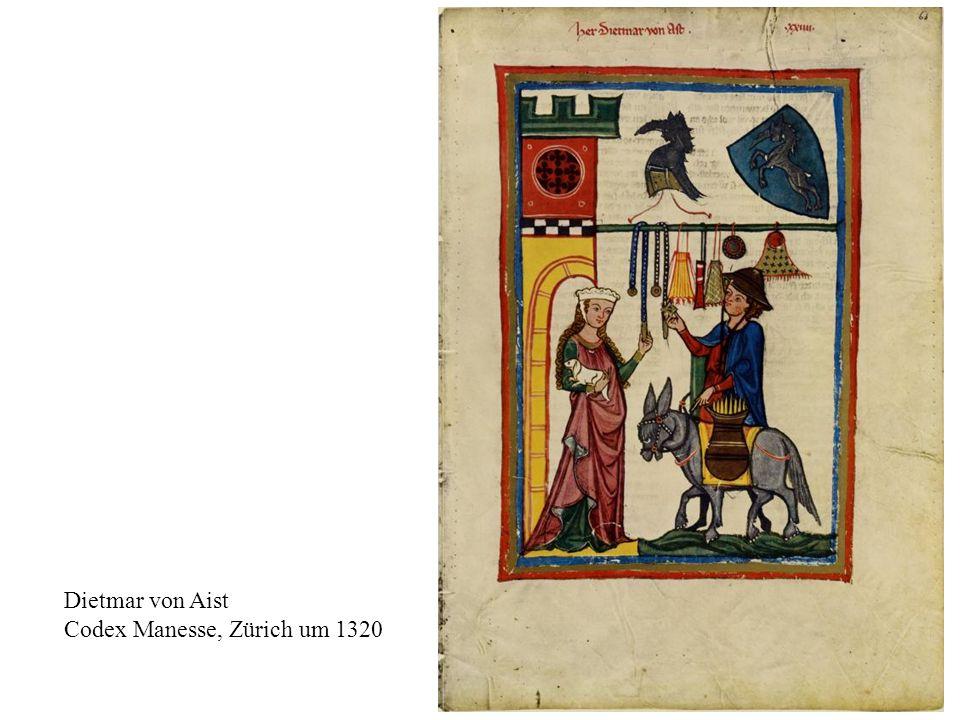Dietmar von Aist Codex Manesse, Zürich um 1320