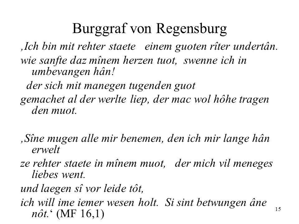 Burggraf von Regensburg
