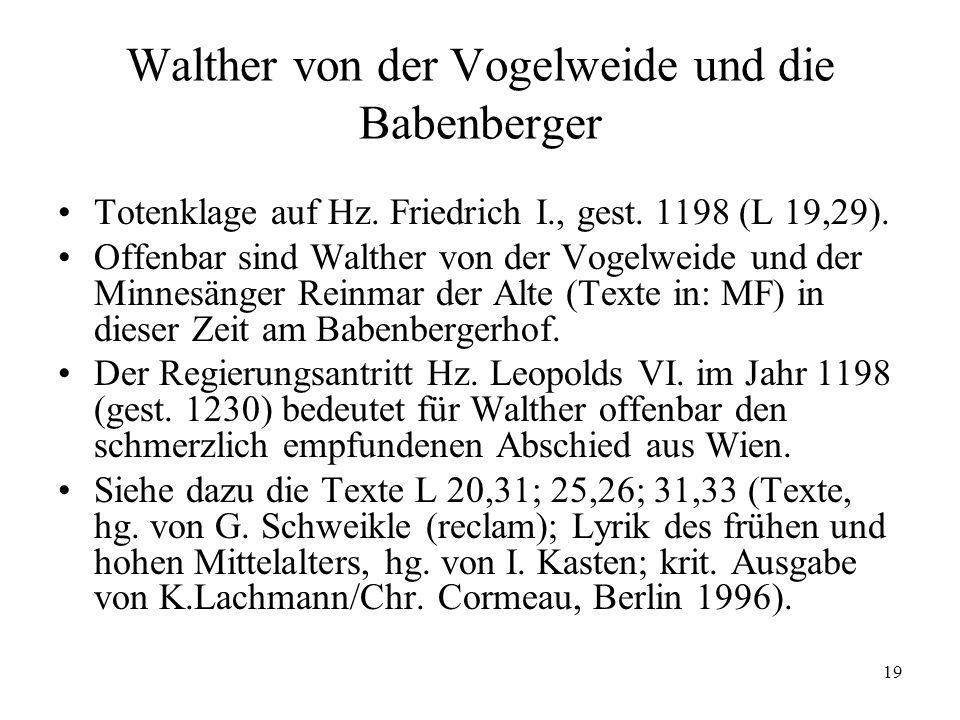 Walther von der Vogelweide und die Babenberger
