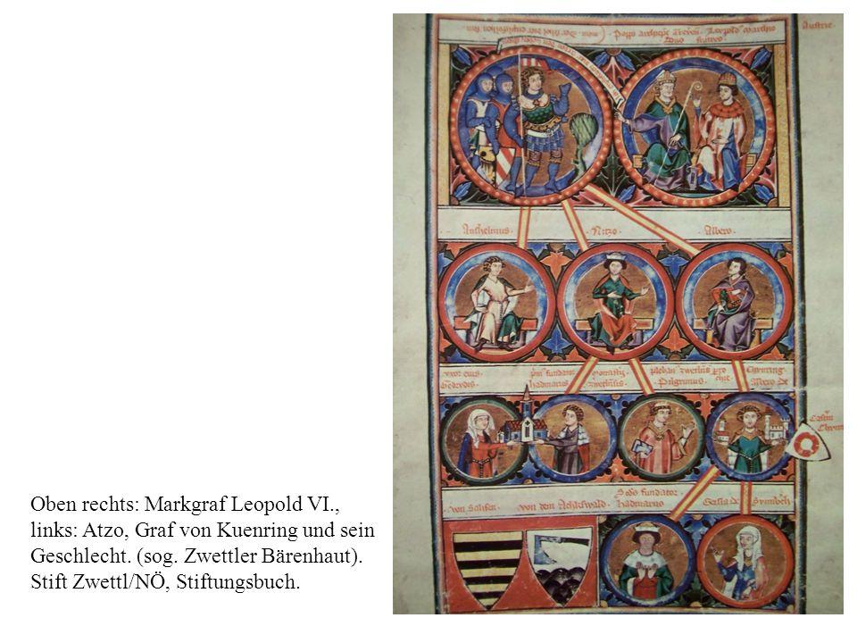 Oben rechts: Markgraf Leopold VI.,