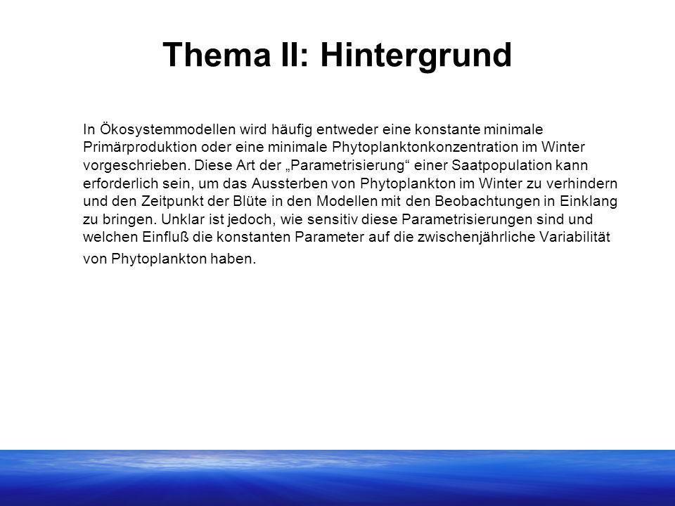 Thema II: Hintergrund