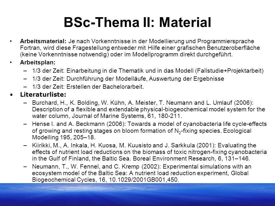 BSc-Thema II: Material