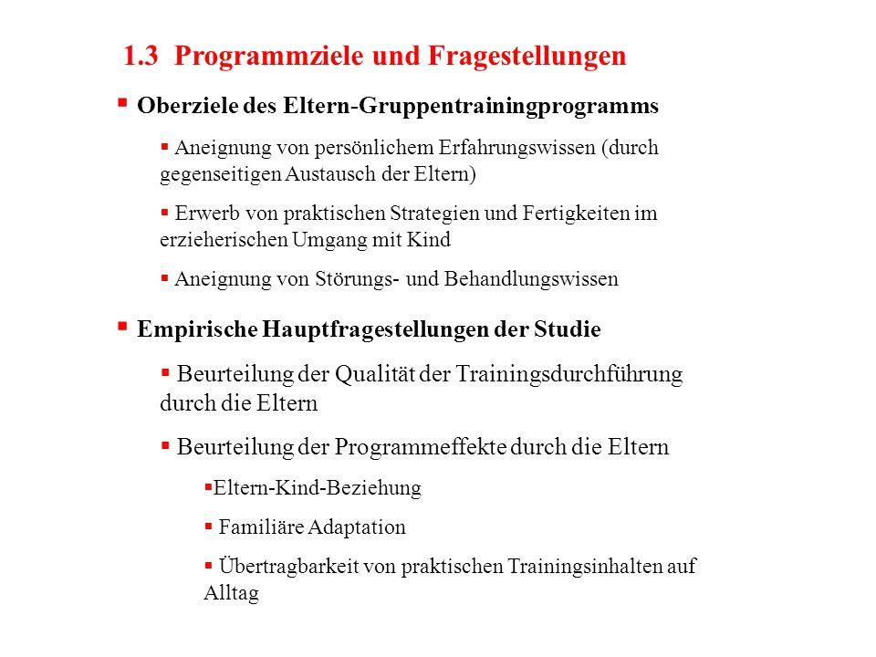1.3 Programmziele und Fragestellungen