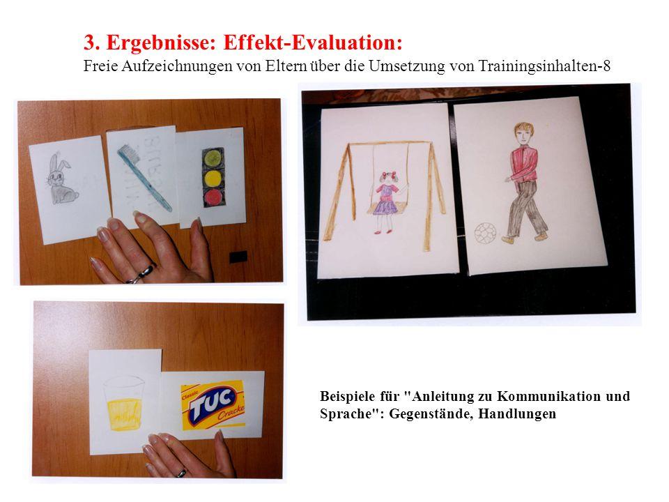 3. Ergebnisse: Effekt-Evaluation: Freie Aufzeichnungen von Eltern über die Umsetzung von Trainingsinhalten-8