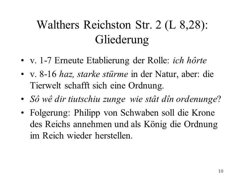 Walthers Reichston Str. 2 (L 8,28): Gliederung