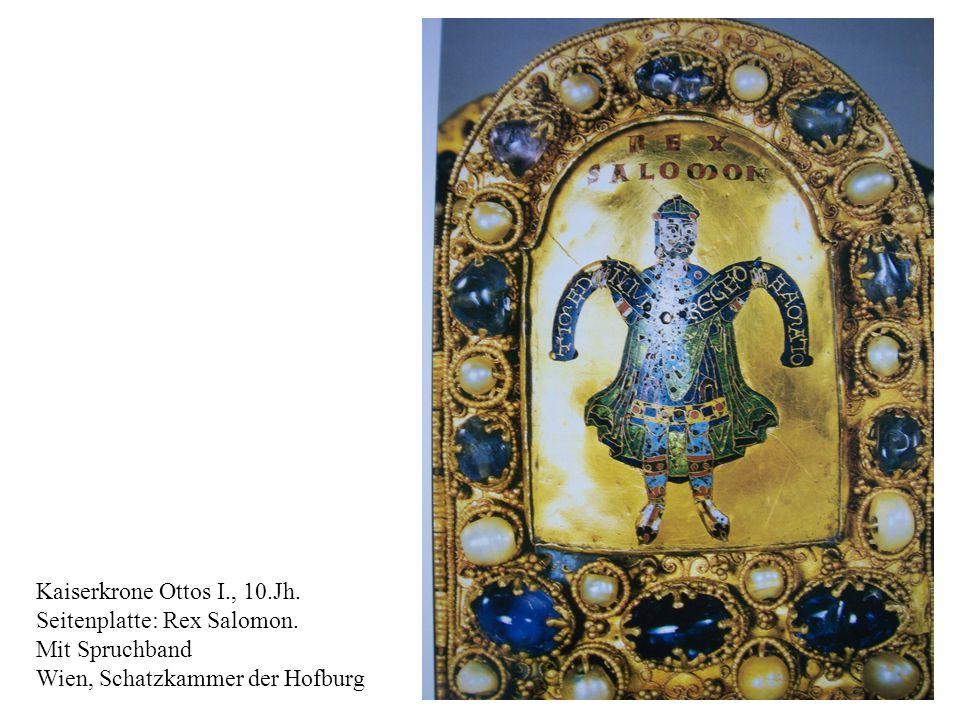 Kaiserkrone Ottos I., 10.Jh. Seitenplatte: Rex Salomon.