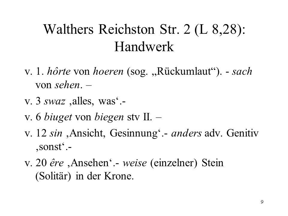 Walthers Reichston Str. 2 (L 8,28): Handwerk