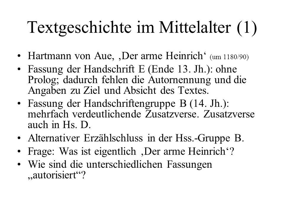 Textgeschichte im Mittelalter (1)